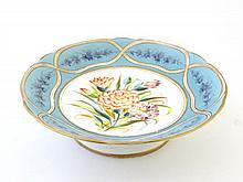 Mintons ?: A 19th Century hand painted porcelain