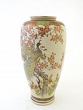 A Japanese Satsuma stye vase of baluster shape