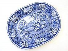 An early 19th Century blue and white transfer