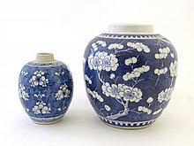 A Chinese Kangxi style porcelain ginger jar,