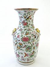 A 19th Century Chinese Famille Rose vase with
