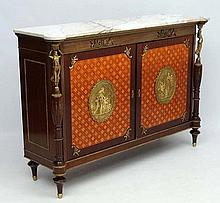 A fine quality Continental cabinet with white carr