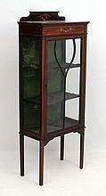 An Edwardian mahogany glazed display cabinet with