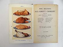 Books: Two Mrs Beeton's Cookery Books , to include