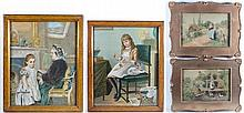 Four Lithographs circa 1900 Two country scenes