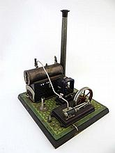 Toy : A Bing Tinplate stationary steam engine ,