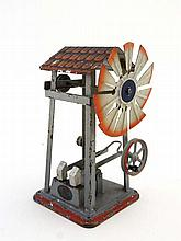 Toy : A Bing Tinplate model , working wind driven