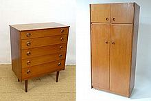 Vintage retro : two items of G-Plan style Teak