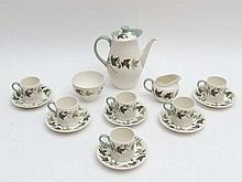 Vintage Retro: Wedgwood coffee set decorated in