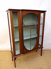 An early 20thC break front mahogany display case