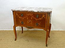An early 20th Continental rouge marble topped