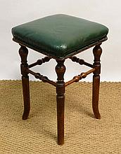 A Victorian mahogany stool with splayed legs 20