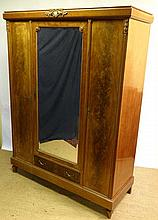 A French mahogany mirror veneeered and inlaid 3