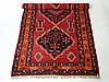 Carpet : A Shirvan Kilim rug with red blue and