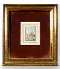 Indian Mughal School Miniature on ivory An Indian