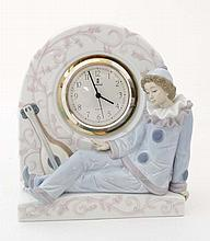 A Lladro clock '' Pierrot '' modelled as a clown w