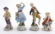 A collection of four Capodimonte figures to includ