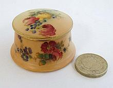 A c1904 Royal Worcester blush ivory miniature pot