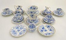 A collection of 19thC Grainger's Worcester tea war