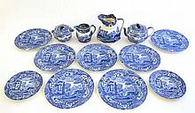 A collection of 13 Spode blue and white ceramics