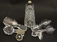 6 Assorted glass bottle / decanter stoppers the la