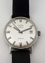 Gents wristwatch : a c 1960 Stainless Steel ' Rota