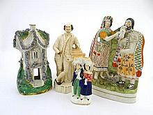 A collection Victorian Staffordshire figures