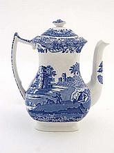 A Spode Blue & White Coffee Pot , with