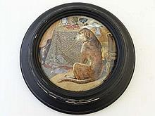 A 19thC F & R Pratt Pot Lid entitled High Life,