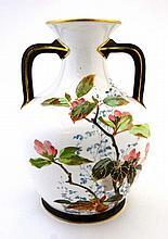A Royal Doulton Burslem hand painted vase, gold