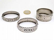 2 Victorian HM silver bangles together with a