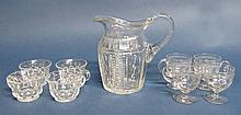 A late Georgian / Victorian cut glass Jug with 2
