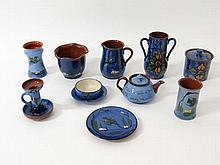 A quantity of Blue Royal Torquay pottery ware,