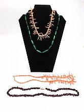 A quantity of assorted vintage necklaces set with