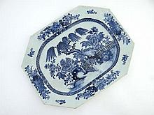 An 18thC Chinese blue and white porcelain