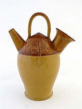 A Doulton Lambeth 2 tone stoneware Sarum kettle,