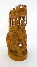 Boxwood carving : a hand carved Indian depiction