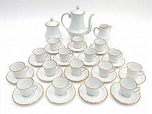 A Limoges porcelain coffee set comprising coffee