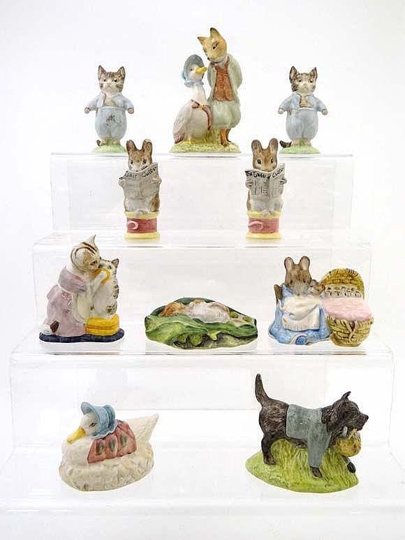 A quantity of Royal Albert Beatrix Potter figures
