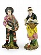 A pair of Derby figurines depicting a male