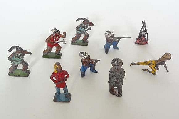 A quantity of mid to late 20thC painted lead