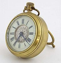 Large Easel / Strutt clock : a brass cased timepiece of pock