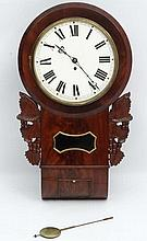 Fusee Drop Dial : A Mahogany cased 12