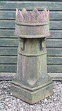Garden and Architectural :A King Chimney Pot having 8 chevro