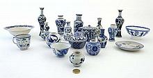 A quantity of Chinese and Japanese blue-and-white porcelain,
