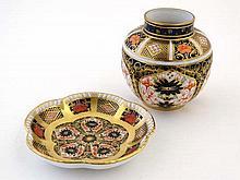 A Royal Crown Derby Imari 1702 1128  pattern ginger jar , to
