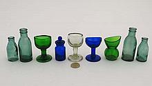 A box containing assorted 19 thC and early 20 thC glass incl