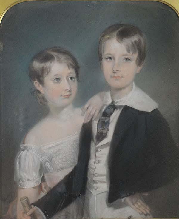 Edward Hastings (fl 1804-1861) Pastel on paper on