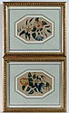 Late Regency A pair of watercolours Floral and