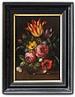 XX Dutch School Oil on fielded panel Still life of